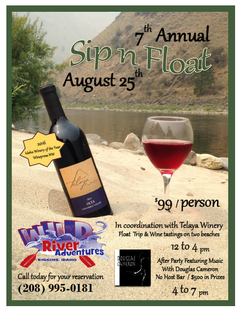 Wine Tasting - Special Event - Sip n Float with Wild River Adventures